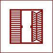 Раздвижные, складные, книжкой и гармошкой жалюзийные, реечные двери