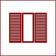 Жалюзийные, реечные двери в гардеробную комнату