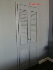 004 Дверки для гардеробной жалюзийные.