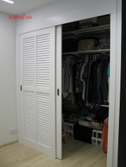 002 Изготовление раздвижных жалюзийных дверей из МДФ