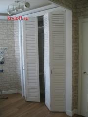 015 Белые двери гармошка