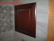 017 Сантехнический люк в туалет из массива бука