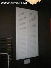 008 Жалюзийные дверцы белые недорого на заказ